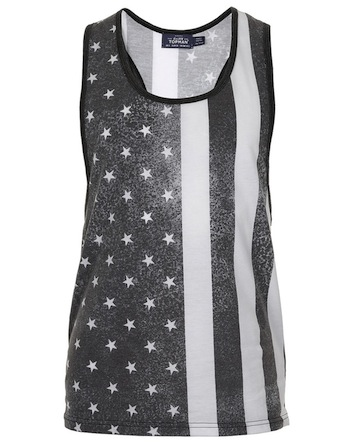 Topman-black-white-usa-flag-tank