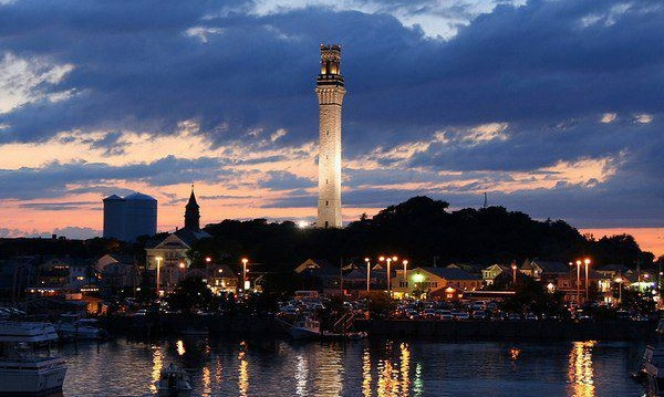 ptown-shore-night-dock-Pilgrim-Monument