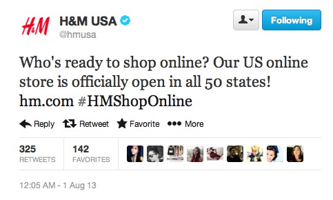 HM Online Shopping USA