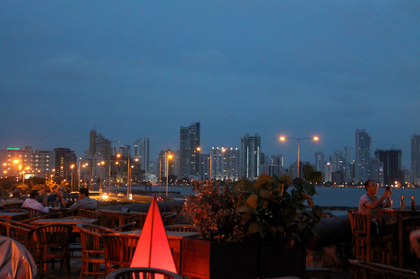 cartagena-old-city-night-bocagrande