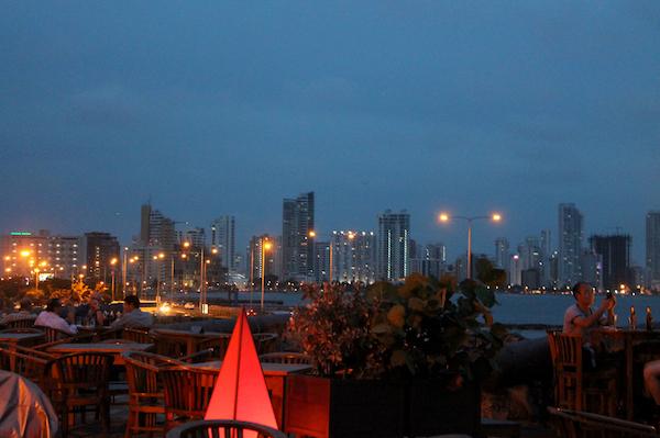 cartagena-old-city-night-bocagrande