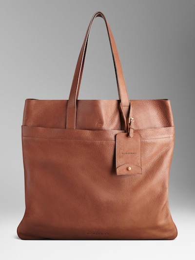 Burberry-Textured-Leather-Tote-Bag