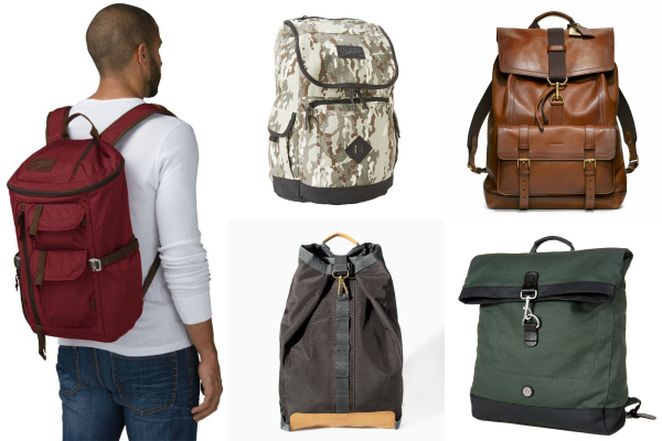 Use these versatile packs as carry-on bags, and enjoy the dedicated laptop slot and adjustable padded straps. These men's luxury backpacks pair well with jeans and a Henley. For those long walking commutes, try lightweight nylon bags by Herschel Supply Co. and STATE.