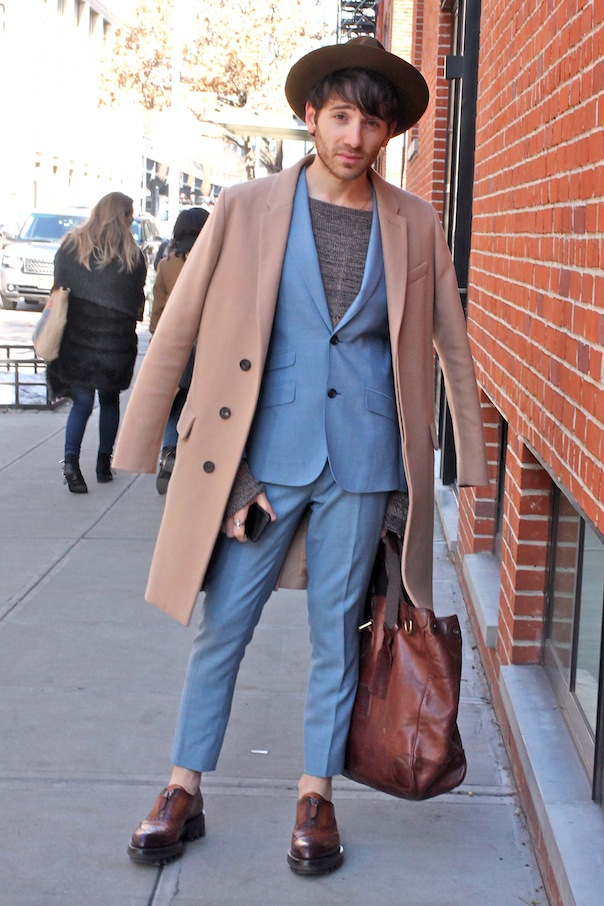 Men s street style from new york fashion week fall winter 2015 vee travels Street style ny fashion week fall 2015