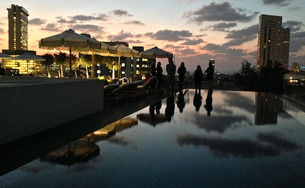 the-norman-tel-aviv-roof-top-pool-night