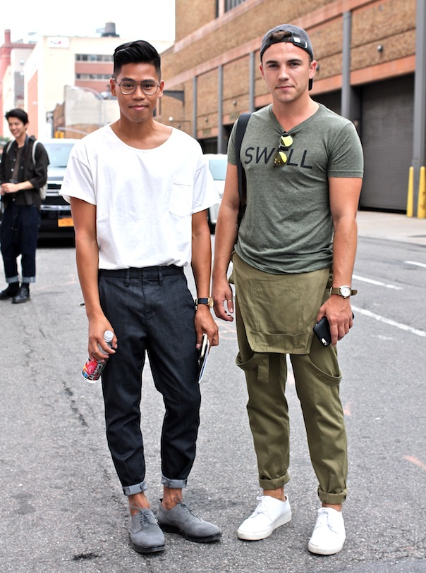 new-york-fashion-week-mens-street-style-spring-summer-justin-livingston-anthony-urbano