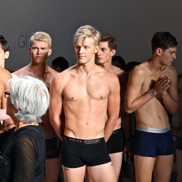 parke-ronen-backstage-spring-2016-male-models-5-mitchell-slaggert-clark-bockelman
