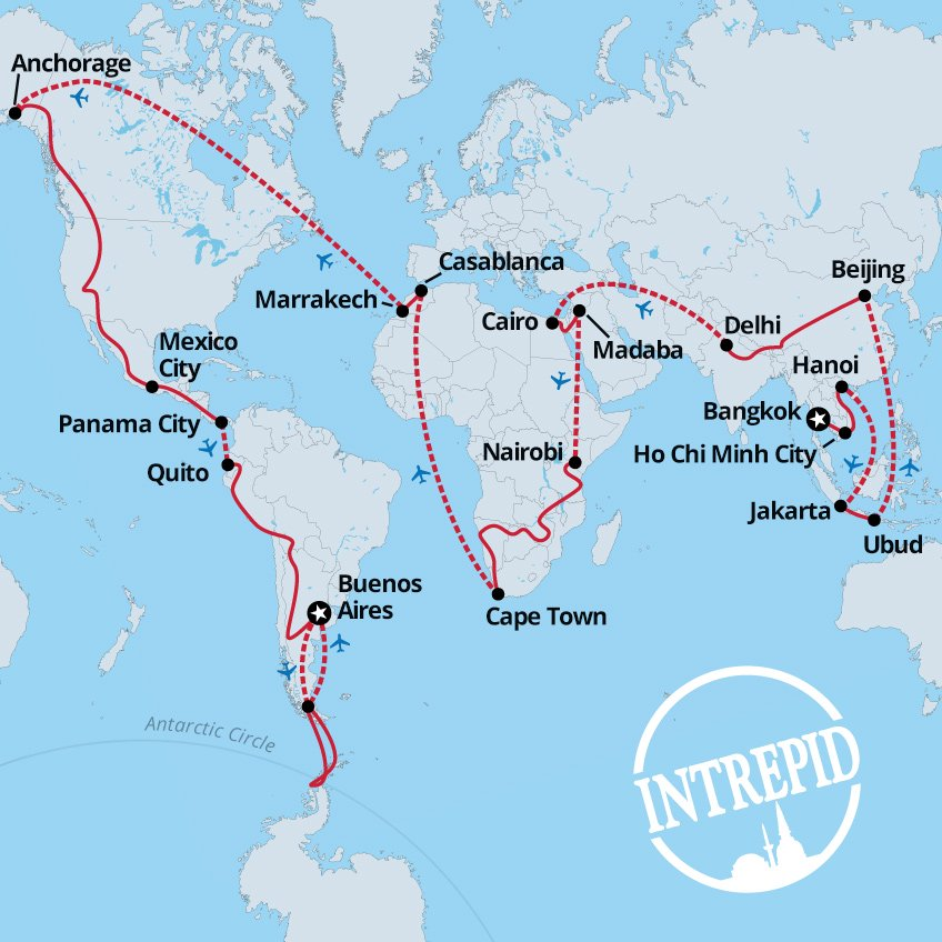 Travel Around the World for a Year for $75,000 With Intrepid Travel