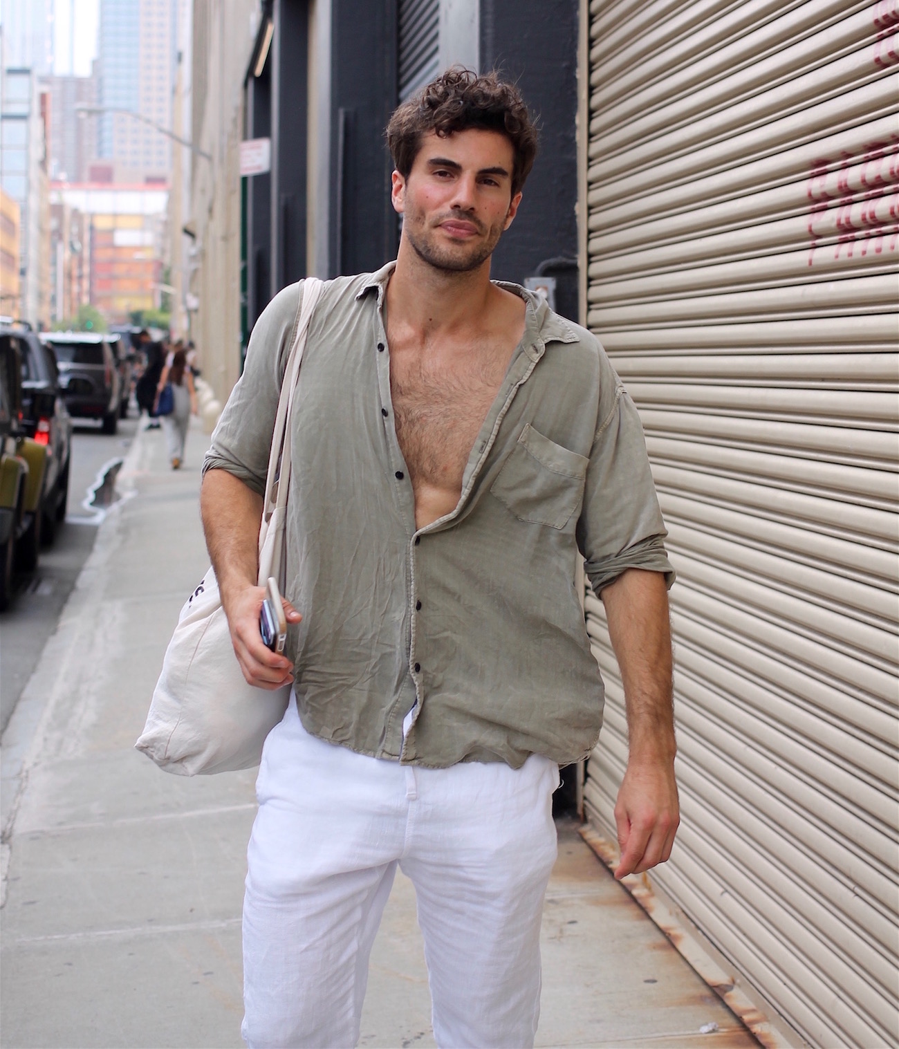 9835a559e33 Published at 1300 × 1517 in 30 Summer Menswear Lessons from Street Style  Captured at New York Fashion Week  Men s